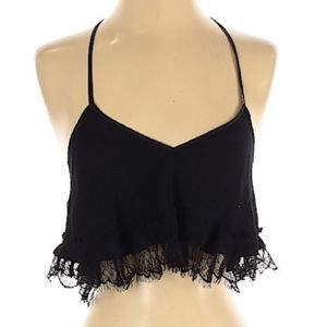 Free People Lace Strappy Crop Top